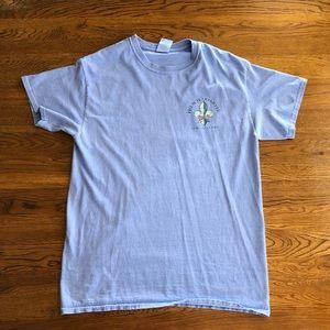Women's French quarter tee shirt medium comfort